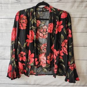 Olivaceous Boho Floral thin cardigan - M